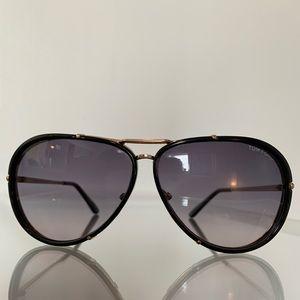 Tom Ford Black & Gold Aviator Sunglasses